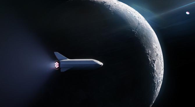 """""""Спейс Екс"""" сключи договор за изпращане на първия космически турист около Луната"""