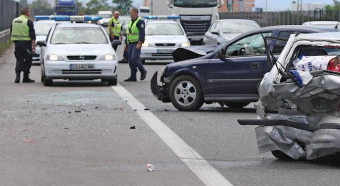 Тежка катастрофа на пътя Пазарджик - Пловдив
