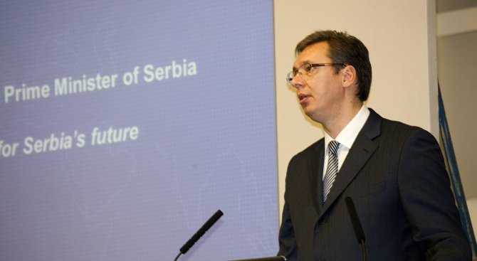 Сръбският президент Александър Вучич пристигна днес на посещение в Китай,