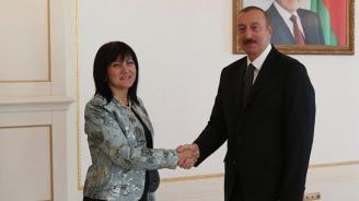 Цвета Караянчева се срещна с президента на Република Азербайджан