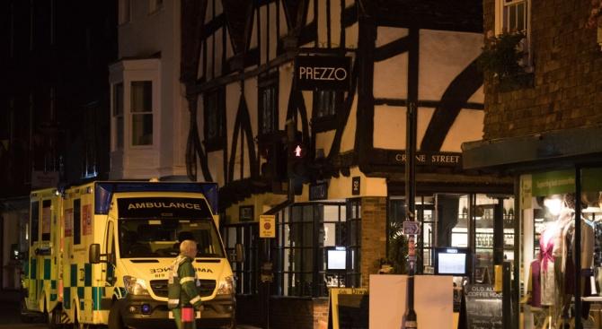 Мъжът, който пострада в италианския ресторант в Солсбъри, е в