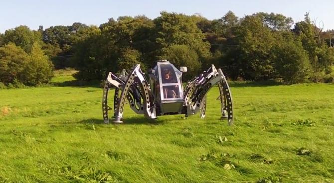 Британски инженер разработи шесткрак ходещ робот, който беше признат от