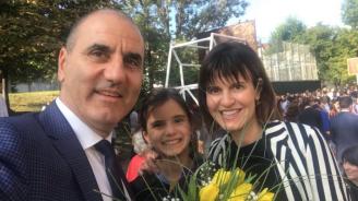 Цветан Цветанов изпрати най-малката си дъщеря в първи клас