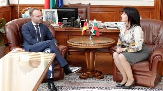 Цвета Караянчева се срещна с депутата от германския Бундестаг Николас Льобел