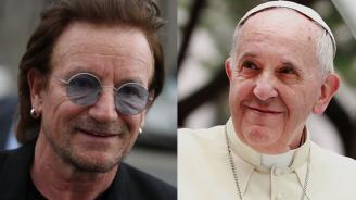 Боно се срещна с папа Франциск (видео)