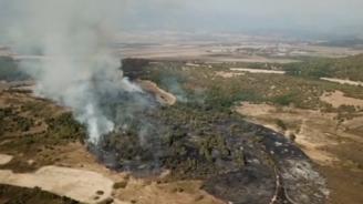 Пожарът край град Баня е потушен