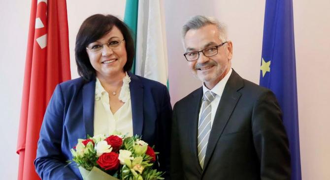 Председателят на НС на БСП Корнелия Нинова се срещна днес