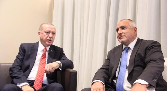 Министър-председателят Бойко Борисов и турският президент Реджеп Тайип Ердоган обсъдиха