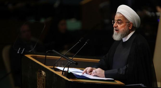 Иранският президент Хасан Рохани обвини днес Съединените щати, че искат