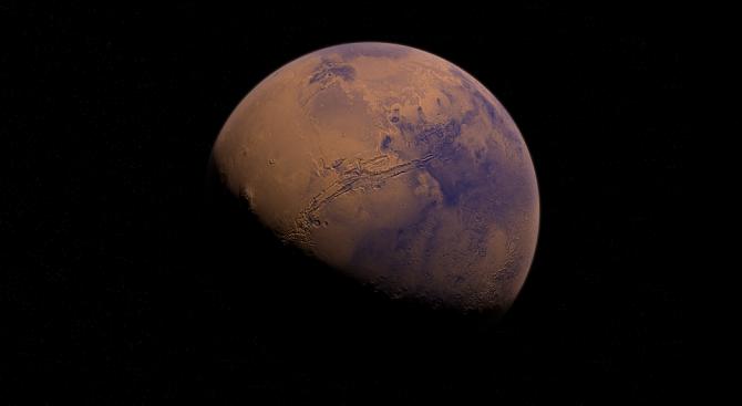 На Марс от стотици милиони години има зона, която е