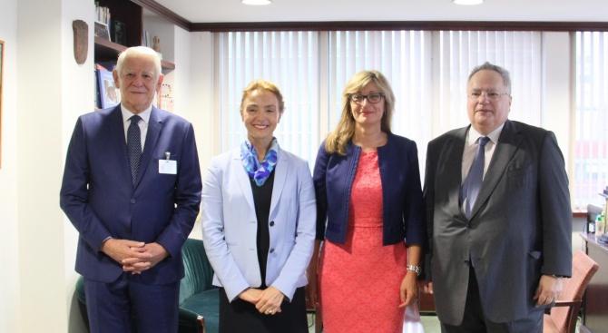Министрите на външните работи на България, Гърция, Румъния и Хърватия