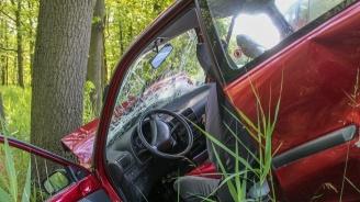 15-годишна шофьорка се заби в дърво