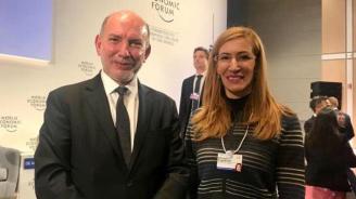 Ангелкова разговаря с Луис Алфонсо де Алба, специален пратеник на ООН за Срещата на върха по въпросите за климата през  2019 г.