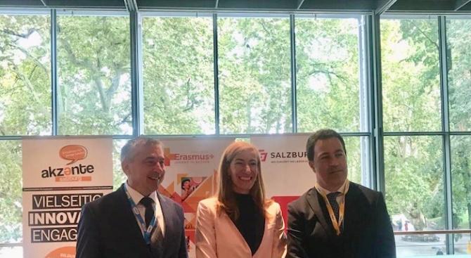 Николина Ангелкова разговаря в Залцбург с вицепремиера и министър на строителството на Хърватия (снимки)