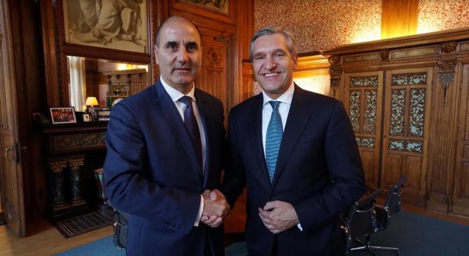 Цветан Цветанов се срещна с председателя на Холандската християндемократическа партия Сибранд Бума