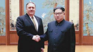 Държавният секретар на САЩ Майк Помпейо се срещна с Ким Чен-ун в Пхенян