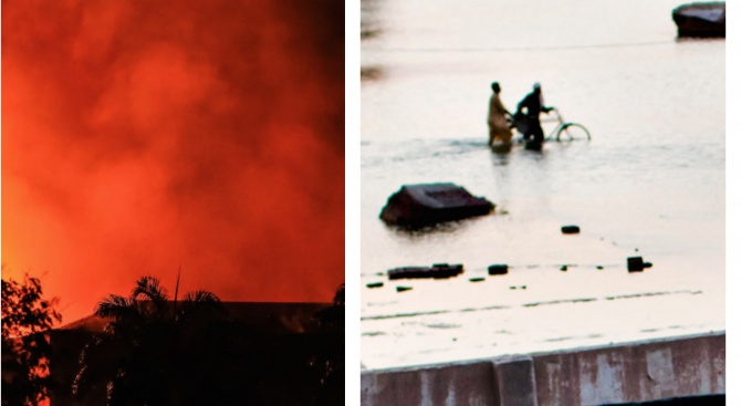 Бедствия се стовариха върху Пиренейския полуостров. Огромен пожар избухна вчера