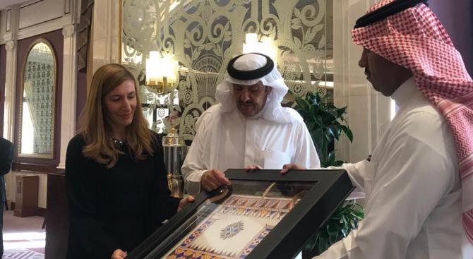 Министърът на туризма Николина Ангелкова разговаря в Рияд с Негово