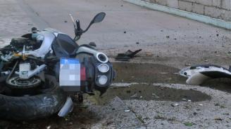 Мотор и лек автомобил се удариха край Пловдив