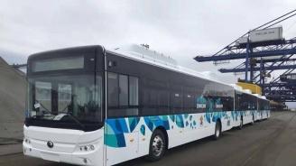 Вижте новите електробуси за градския транспорт (снимки)
