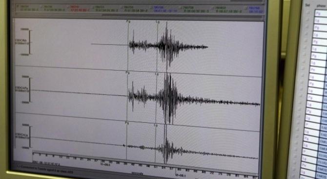 Земетресение с магнитуд от 4,1 по Рихтер е било регистрирано