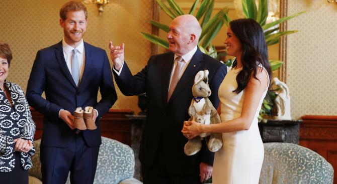 Херцозите на Съсекс принц Хари и съпругата му Меган, които