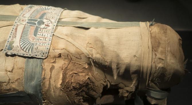 Френски учени дешифрираха значението на многобройни татуировки върху древноегипетска мумия,