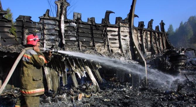 Взрив и пожар в руски завод за пиротехника (видео)