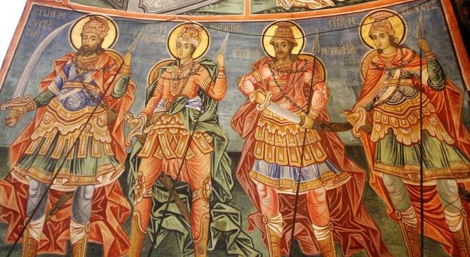 Вандали са поругали ценните фрески на Захари Зограф и на