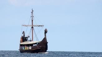 Откриха викингски кораб в надгробна могила в Норвегия (видео)