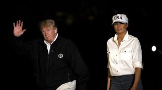 Доналд и Мелания Тръмп посетиха района с опустошенията във Флорида
