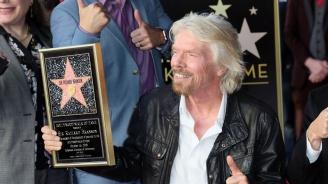 Ричард Брансън със звезда на Холивудската алея на славата (снимки)