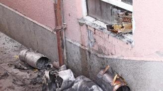 Пожар горя в бистро във Велико Търново (снимки)