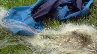"""100 метра бракониерски мрежи са извадени от водите на язовир """"Ястребино"""""""