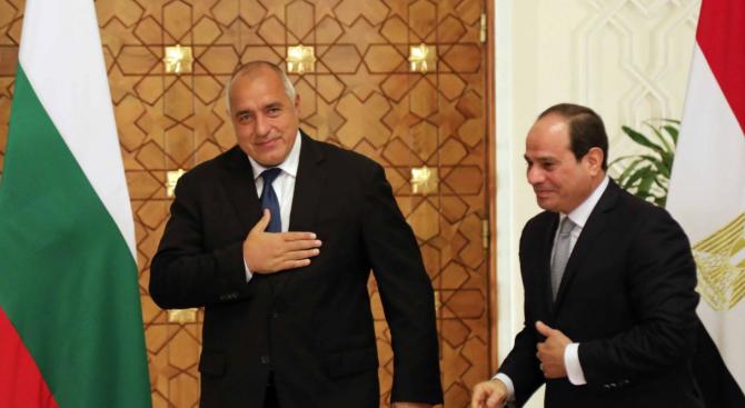 Министър-председателят Бойко Борисов се срещна с държавния глава на Египет