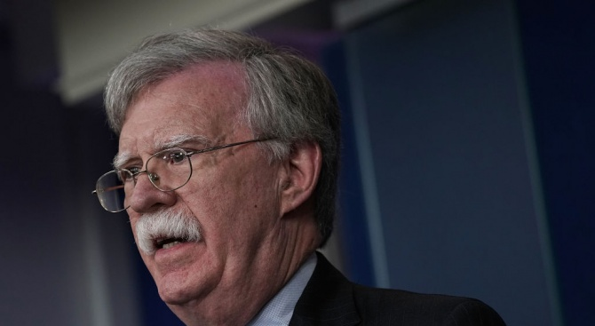 Съветникът на Белия дом по националната сигурност Джон Болтън каза
