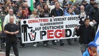 Около 10 000 души протестираха срещу крайнодясното движение Пегида в Дрезден (видео)