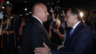 Бойко Борисов пристигна в Кайро, разговаря с египетския министър-председател (обновена+видео+снимки)