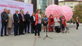 1200 розови балона полетяха към небето в памет на жените, загубили битката с рака на гърдата