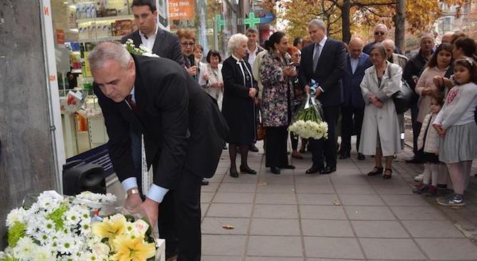 Заместник–министър Стефан Балабанов положи цветя пред паметна плоча на Йордан