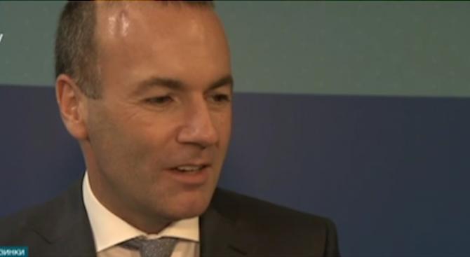 Манфред Вебер: България трябва да се присъедини към Шенген и еврозоната