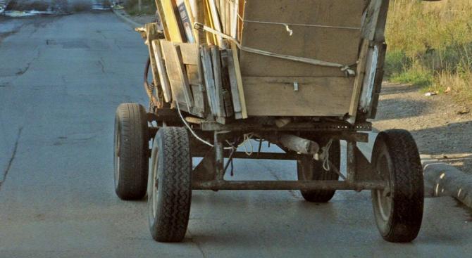 Протест срещу каруците на пътя в Казанлък