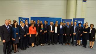 Цветанов и кметове от ГЕРБ подкрепиха Манфред Вебер за следващ председател на ЕК (снимки)