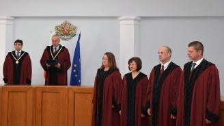 Заклеха се новите конституционни съдии (видео+снимки)