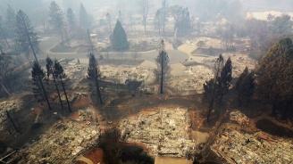 Вижте разрухата след огнения ад в Калифорния (видео)