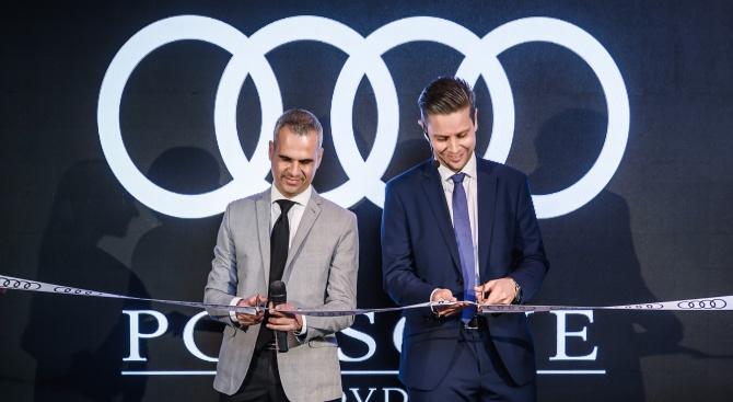 Обновеният шоурум на Audi с официалната церемония по повод откриването