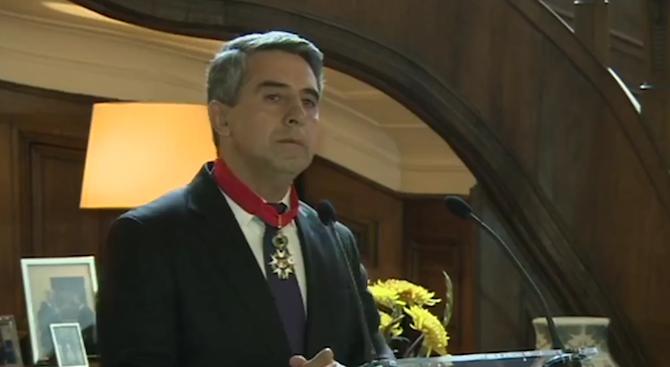 Президентът през периода 2012-2017 г. Росен Плевнелиев беше удостоен с