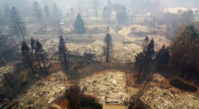 Световните агенции разпространиха кадри от дрон, които показват разрухата след