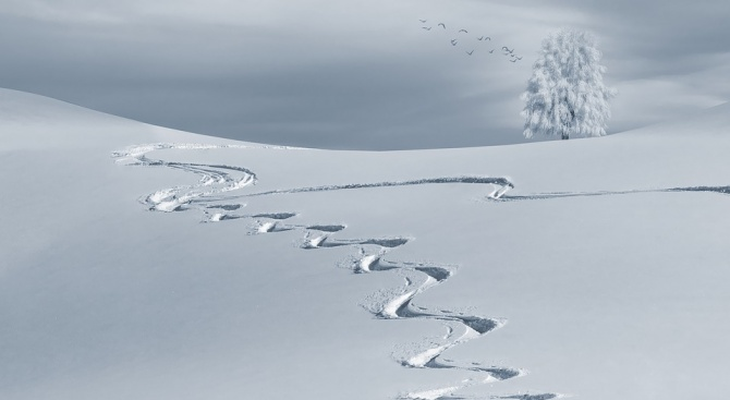 Половин метър сняг натрупа в някои планински райони на Гърция,