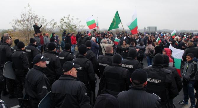 По време на проведените днес протестни действия служителите на реда